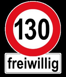 Autoaufkleber Tempo 130 freiwillig