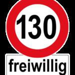 Aufkleber Tempo 130 freiwillig